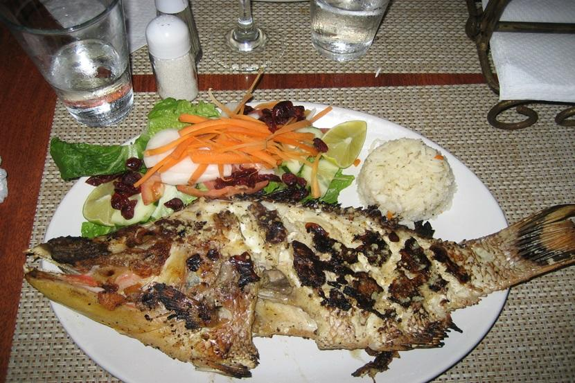 Grillet fisk i Mexico