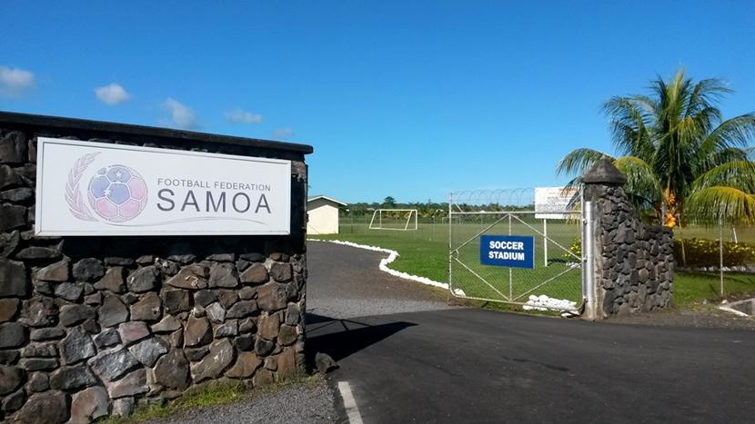 Fodboldstadium på projektet i Samoa