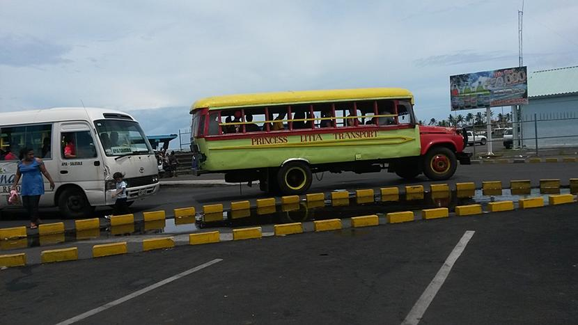 Den daglige transport på en Stillehavsø