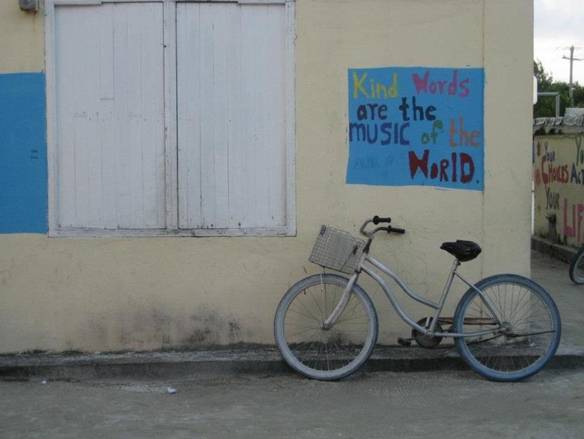 Cykel på øen Caye Caulkner i Belize