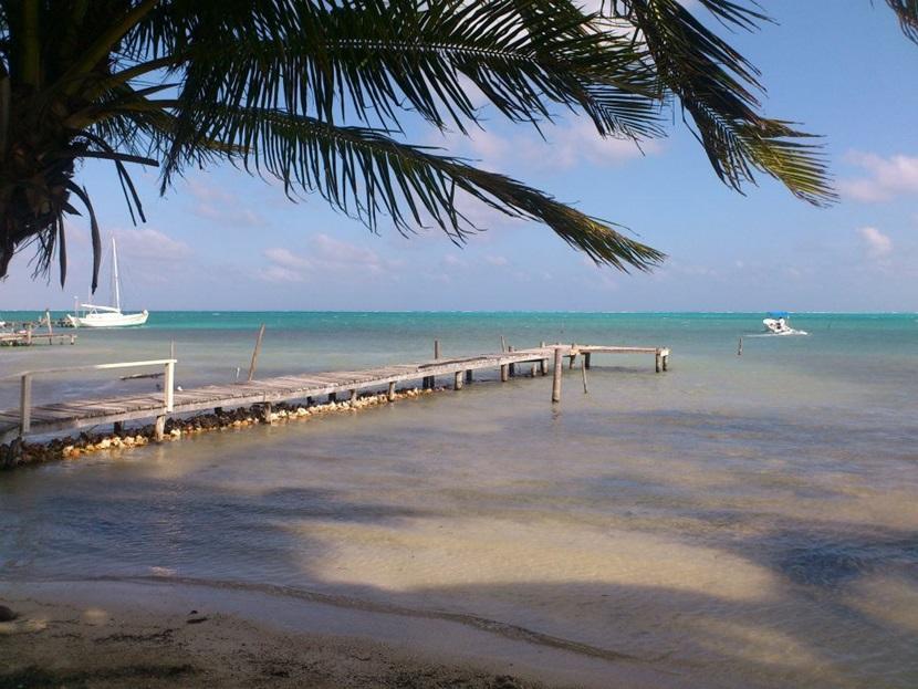 Kaj i Belize med turister