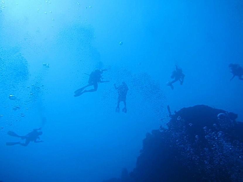 Dykkere på tur