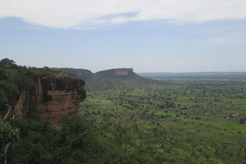 Plateau og grotter i Togo