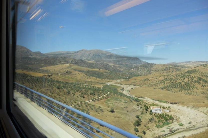 At rejse med tog er en tidskrævende transportform, men du får set dele af landet, du ellers ikke ville være kommet forbi. Foto: Caroline Fuglsig Leidesdorff