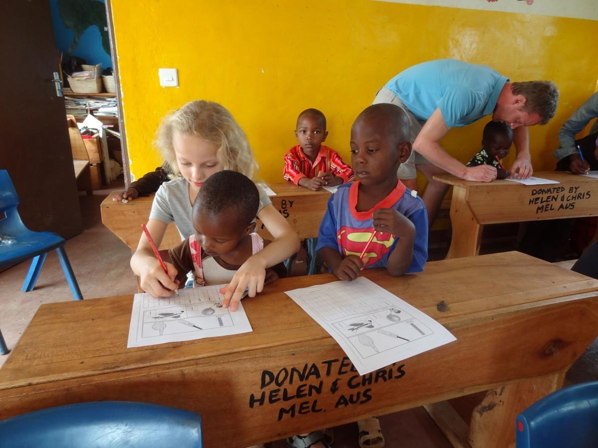 Frivilligt arbejde i udlandet for familier