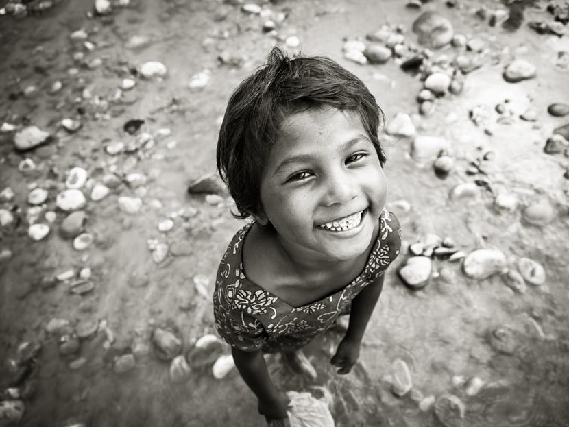 Bambina sorridente Nepal