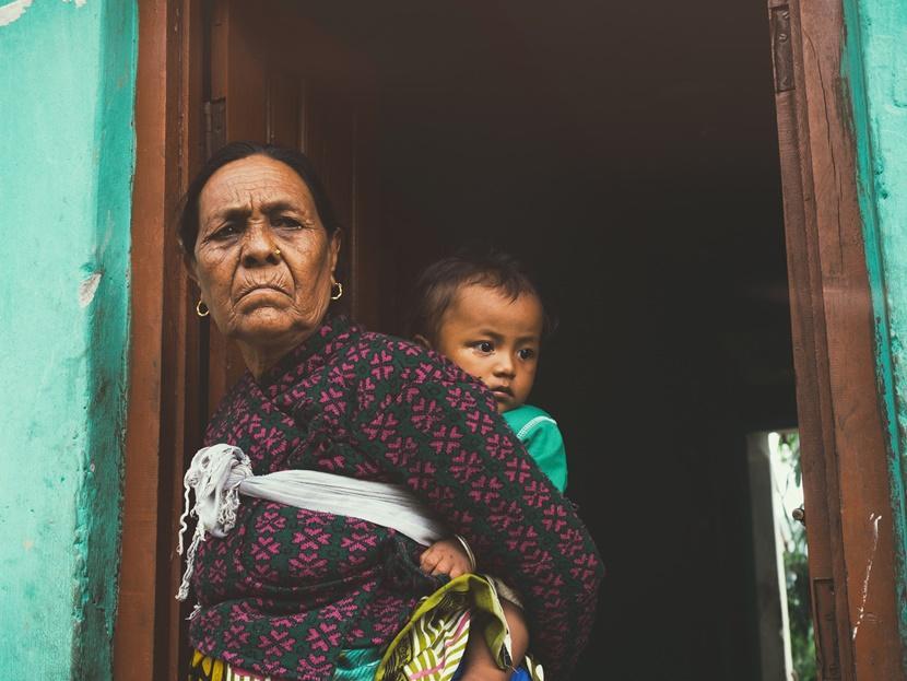 Nonna nipote Nepal