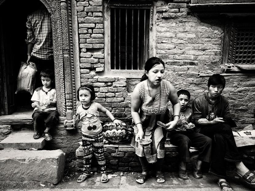Persone panchina Nepal