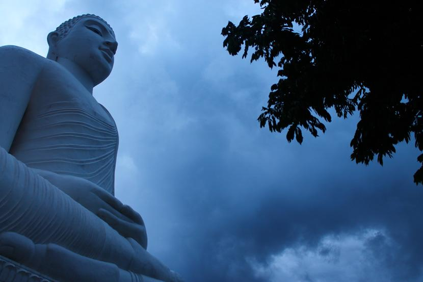 La statua di Buddha a Kandy
