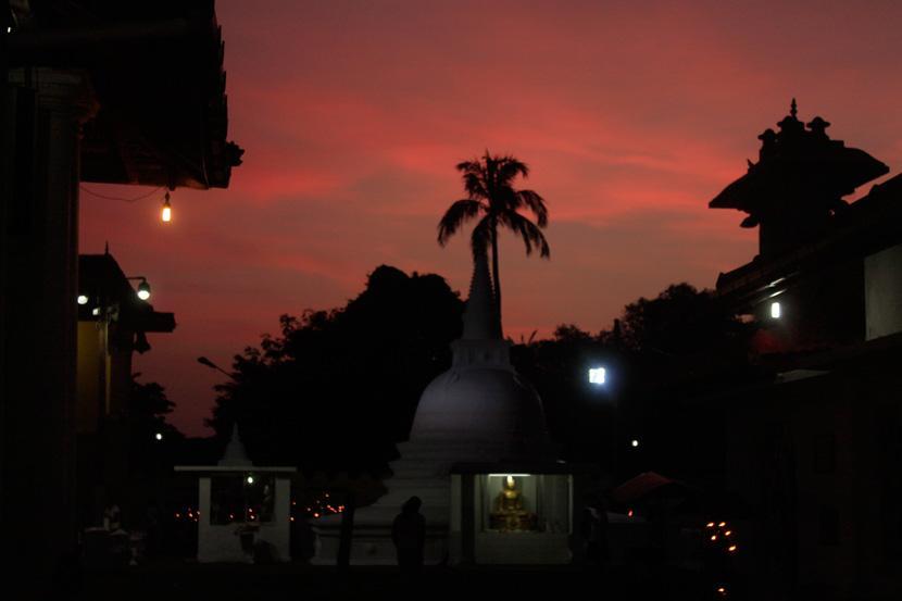 Un tempio in Sri Lanka