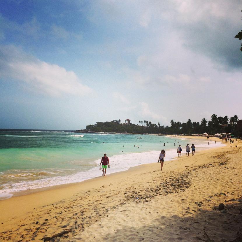La spiaggia di Unawatuna