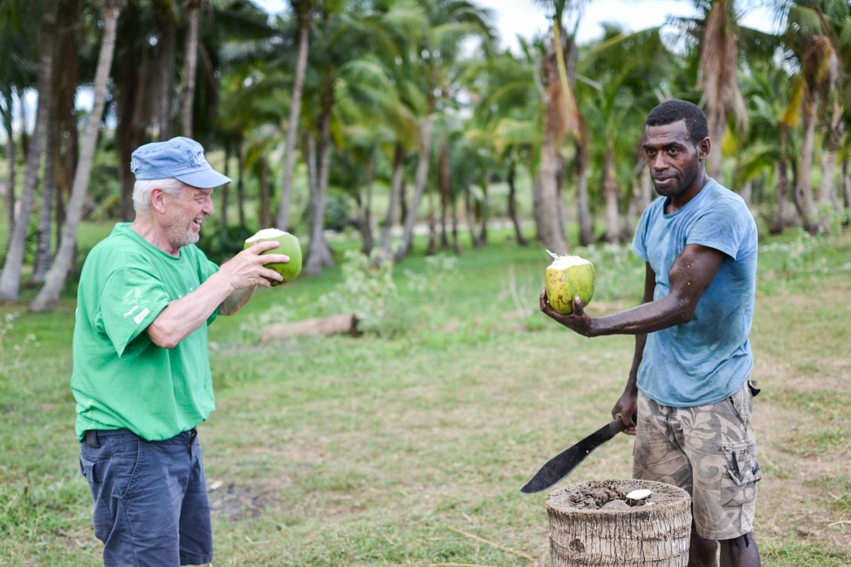 Il volontario Senior Alberto alle Isole Fiji