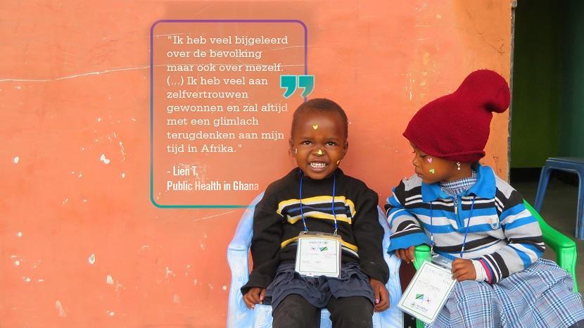 Vrijwilliger quote over haar ervaring in het buitenland tijdens een groepsreis voor jongeren op het public health project.