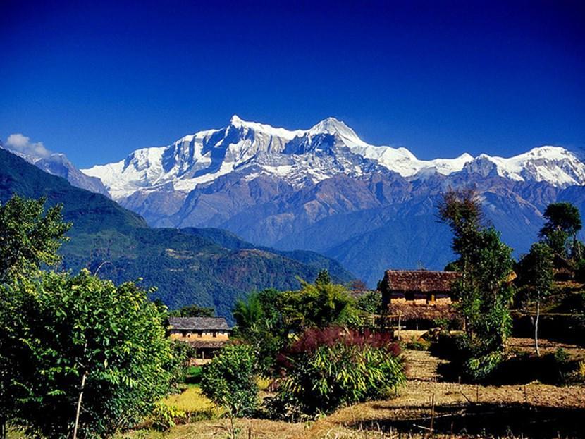 Trekking in the Annapurna Mountain Range