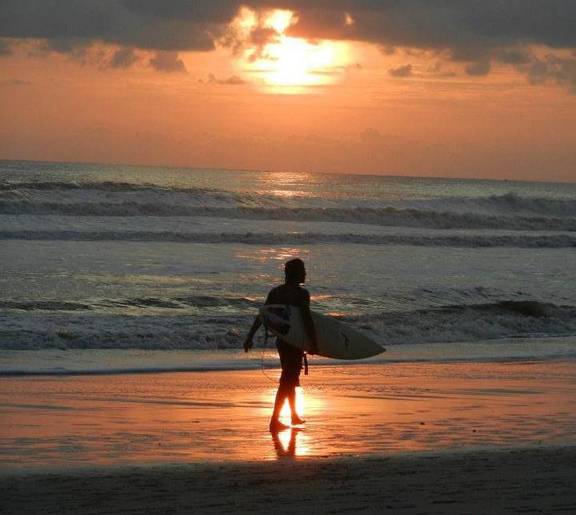 Sunset surfing in Costa Rica