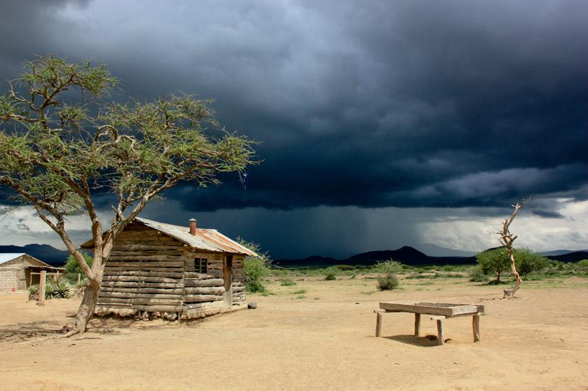 An approaching storm in Tanzania