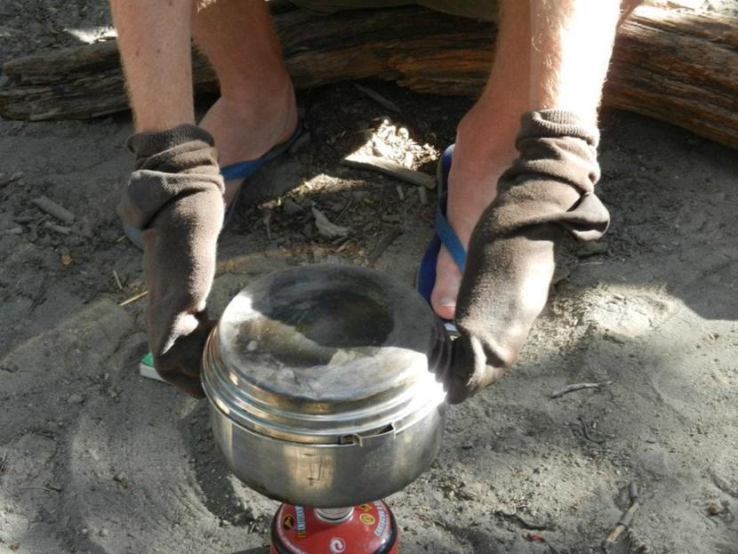 Make-shift oven gloves