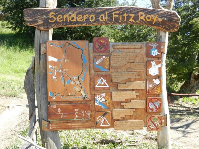 Map of the route to Fitz Roy