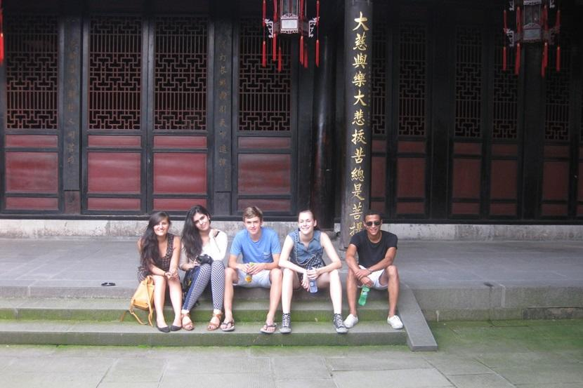 Visiting a Chinese monastery