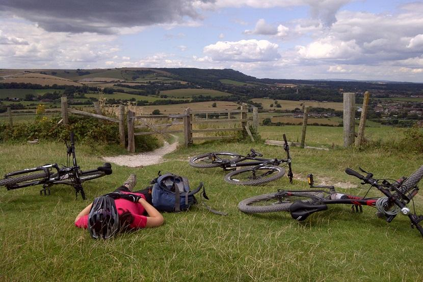 Resting at the top of Truleigh Hil