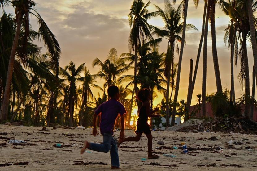 Children on a Philippines Beach