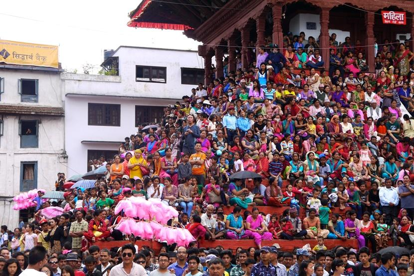 Nepal Colourful Festival Crowds