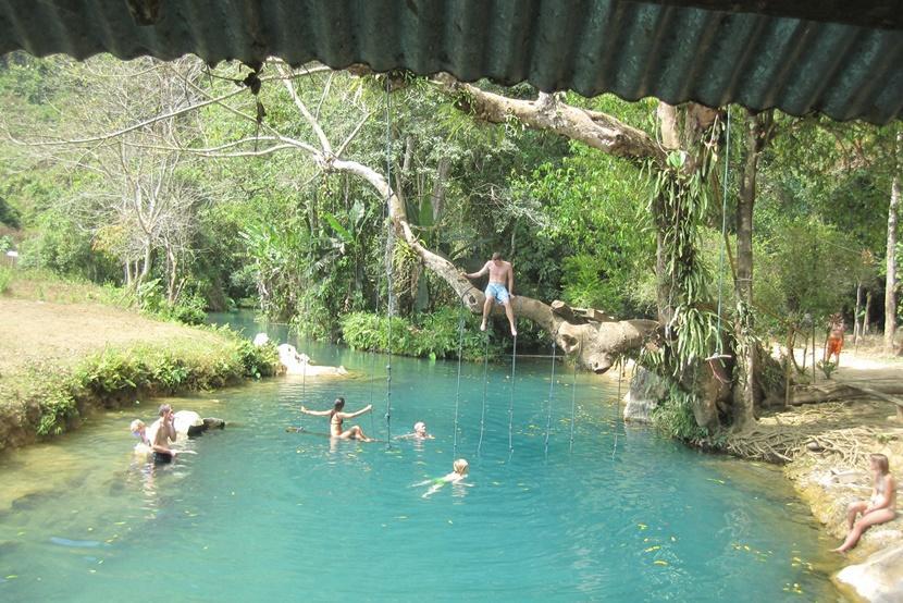 People swimming in Blue Lagoon