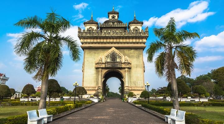 Patuxai, meaning Victory Gate, is a war monument in the centre of Vientiane, Laos