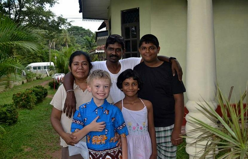 Thomas Howell on a family volunteering Care placement in Sri Lanka