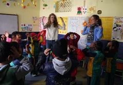 Frivillige på humanitært projekt i Nepal