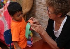 Ældre frivillig i Costa Rica