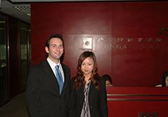 A Law intern with a local colleague at  a law firm in Shanghai, China.
