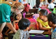 Frivilligt arbejde med undervisning i Filippinerne