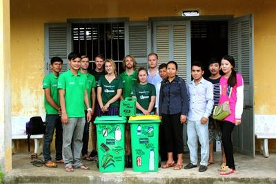 Donation of bins to the school