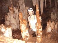 Suzi Lamb visiting the cave