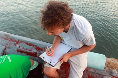 Volunteer taking notes