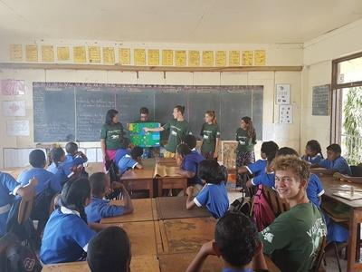 Volunteers conduct shark conservation lessons in local schools
