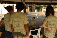 Volunteers at the camp