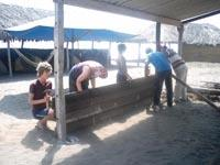 Maintenance at camp
