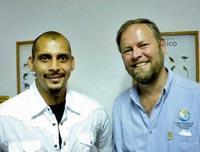 Oliver with Ernesto Enkerlin