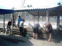 Repair work at camp