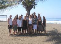 Volunteers on the beach