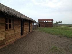 New bunkhouse and luggage building