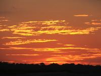Sunset over turtle beach