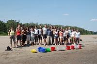 Volunteers at the Turtle Beach