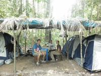 Camp Site near Spider Monkey Release Site