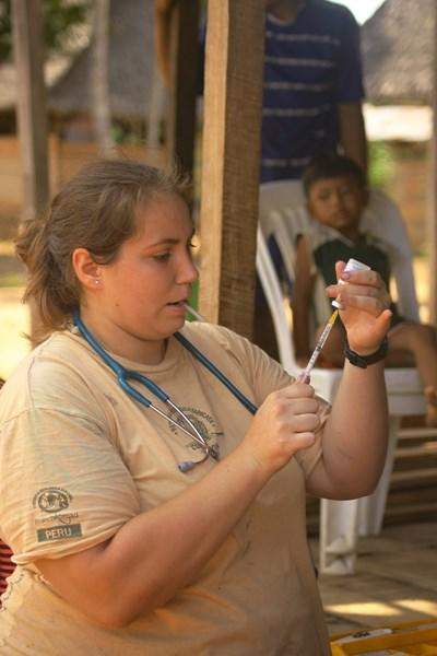 Vaccinating domestic animals in native communities