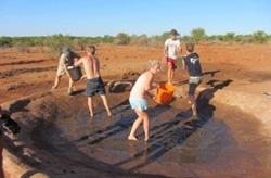 Cleaning waterhole
