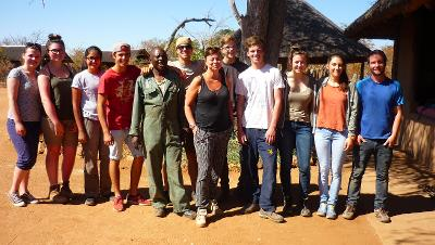 A group photo of the Conservation volunteers and staff