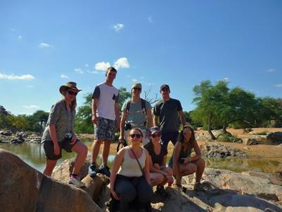 Volunteers during their Conservation project in Botswana